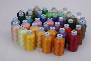 Premium Polyester Brother Machine Embroidery Thread Set of 40 Colors $26.95