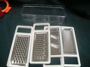 5 Piece Grater set, 4 graters with plastic collector container