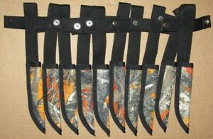 lot of 10 Case XX fixed blade hunting knife sheaths only