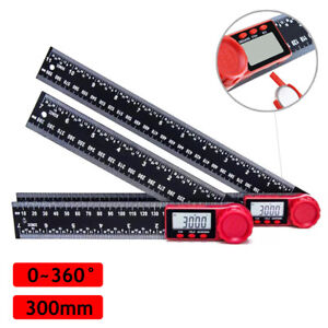 8quot; Electronic LCD Digital Angle Finder 300mm Protractor Ruler Goniometer $14.99