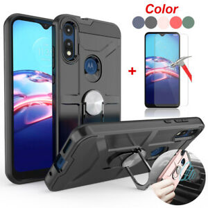 For Motorola Moto E 2020 E7 Shockproof TPU Case Cover Glass Screen Protector