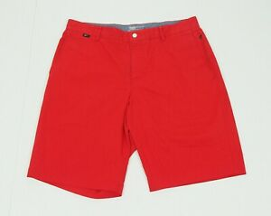 Nike Golf Dri Fit Fire Red Modern Fit Flat Golf Chino Shorts Mens 34 $15.50