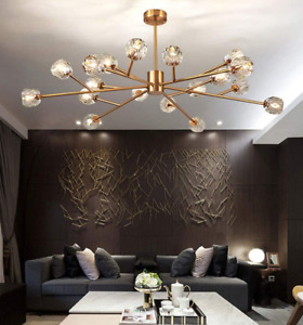 Luxury 18 Light Chandelier Sputnik Crystal Pendant Lamp Ceiling Fixture Lighting $249.84