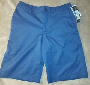 Under Armour Golf Shorts 14 Youth Boys Loose Stretch NWT Navy Blue $15.99