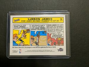 2005 06 Topps Bazooka LEBRON JAMES Magnet Card # 16 Of 24 🔥SUPER RARE🔥