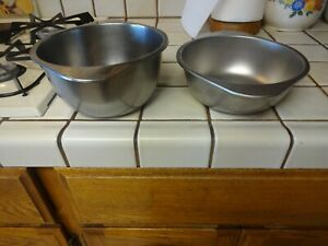 REVERE WARE Stainless Steel Large & Sm.Double Boiler Inserts for 2 Qt & 3 Qt Pan
