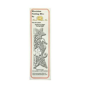Seahorse Edger Right Metal Die Cut Stencil Frantic Stamper Craft Cutting Dies $18.97