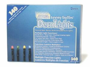 Multi Color Teeny Bulbs Multiple Function Christmas Light Set of 140 Lights