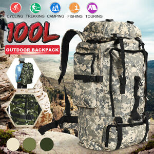 100L Military Camping Backpack Tactical Camping Hiking Travel Bag Pack Outdoor
