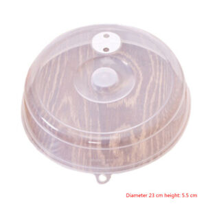 Plastic Plate Cover Anti Splatter Lid for Microwave with Steam Vent Bowl Useful