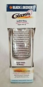 BLACK & DECKER GIZMO CORDLESS GRATER GG200 -Grates Cheese Chocolate NEW FRE SHIP