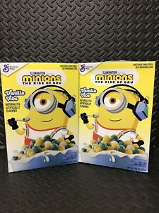 Lot Of (2) New GM MINIONS The Rise of Gru Vanilla Vibe CEREAL 9.8 OZ (277g) Box
