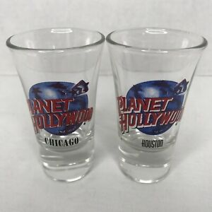 S 2 Planet Hollywood Shot Glasses Chicago Houston