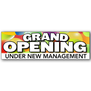 Grand Opening Under New Management Vinyl Banner Size Options $39.99