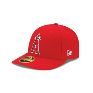 LA Angels New Era MLB Authentic On Field Low Profile 59FIFTY Fitted Hat Red $24.99