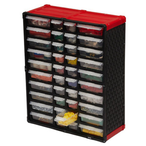 Small Plastic Parts Organizer Tool Storage Rack Bin Drawer Nuts Bolts Wall Bench
