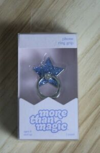 More the Magic Star Phone Ring Grip Cell Phone Holder Stand Accessories Blue $9.99