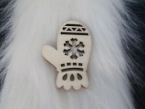 NEW Fab Lab Mitten Snowflake Wood Shape Unfinished Paint Decorate Yourself HTF