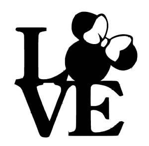 LOVE Minnie Mouse Decal