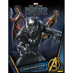POSTER BOOK BLACK PANTHER 8.5quot; x 11quot; FREE SHIPPING