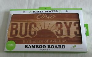 Core Bamboo Board State Plates Ohio BUC 3Y3 11quot; x 0.6quot; x 5.4quot;