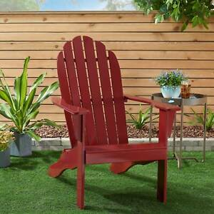Mainstays All weather Indoor Outdoor Patio Garden Lawn Adirondack Chair Red