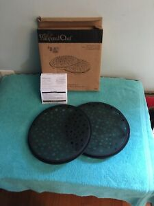 The Pampered Chef Microwave Chip Maker Set of 2 1241 Preowned EUC