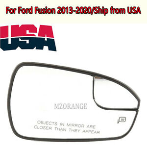Heated Side Mirror Glass Right For Ford Fusion 2013 2014 2015 2016 2017 18 2020 $34.70