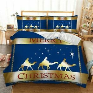 Xmas Bedding Set Twin Full Queen King AU Single UK Double Gift From Christmas