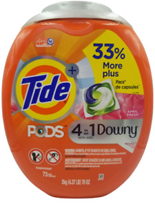 Tide Pods with Downy Laundry Pods April Fresh 73 Count