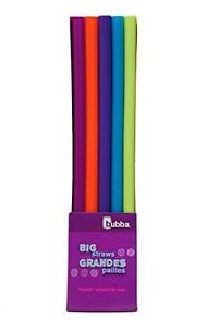 Bubba Big Straws Pack of 5 Assorted Colors 11290ZBB New $7.99