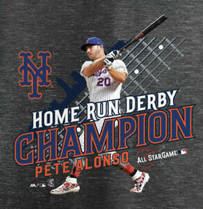 New Mets Pete Alonso 2019 All Star Game Home Run Derby Champion Mens T Shirt XL