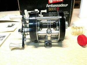 ABU GARCIA AMBASSADEUR FISHING REEL W BOX BLACK 5000 C SUPER CLEAN REEL
