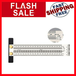 SWMIUSK 200mm High precision T Square Ruler Woodworking Marking Stainless Line $35.99