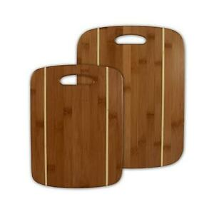 Totally Bamboo Cutting Board Set Striped Bamboo 2 Pc. $20.61
