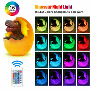 3D Dinosaur Night Light Table Lamp USB Charging Touch Control Room Decor Gift