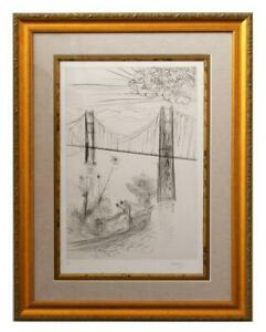 Salvador Dali Etching quot;San Francisco Golden Gate $19800.00