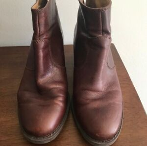 9 West Leather Brown Womens booties Sz 6.5 FREE SHIPPING $18.00