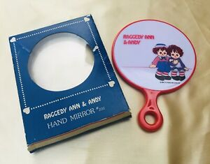 Vintage Raggedy Ann and Andy Hand Mirror 1974 $25.00