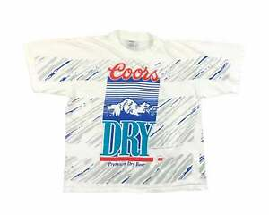 Vintage Coors Dry Shirt Wild Oats 90s All Over Print Beer Coors Light V7 $69.99