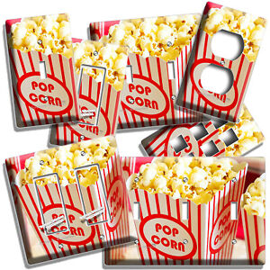 POP CORN BOX TV ROOM HOME MOVIE THEATER CINEMA LIGHT SWITCH OUTLET HD WALL PLATE