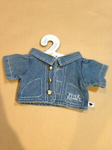 Build A Bear Peter Rabbit Blue Jean Denim Jacket New With Tags $21.50