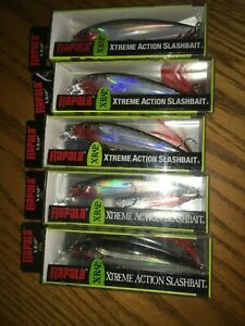 RAPALA X RAP 10#x27;s lot of 5 SILVER COLORED FISHING LURES XR10