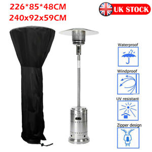 Large Outdoor Garden Patio Gas Heater Cover Protector Polyester Waterproof Black $24.99
