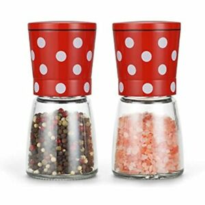 Vucchini Cute Salt Pepper Grinder Mill Stainless Steel And Shakers With Blades