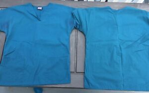 LOT of 2 Cherokee Scrub Sets TOPamp;BOTTOM Caribbean Blue Size Extra Small