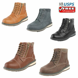 Kids Boys Fashion Boots Zipper Hiking Boots Cool Ankle Combat Boots $13.99