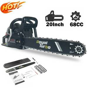 58 62 68cc Chainsaw 20quot; Bar Powered Engine 2 Cycle Gasoline Aluminum Chain Saw $132.99
