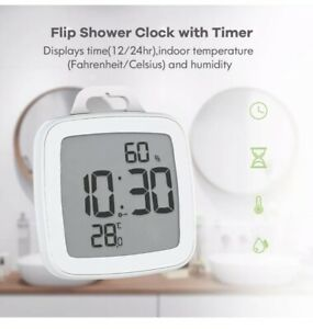 Baldr B0008 Shower Wall Clock Bathroom Waterproof for Kitchen with Flip Timer