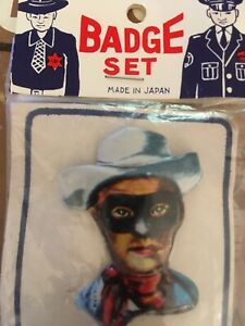 LONE RANGER TOY Tin COWBOY WESTERN PIN SET Brand New In Package Vintage Auction